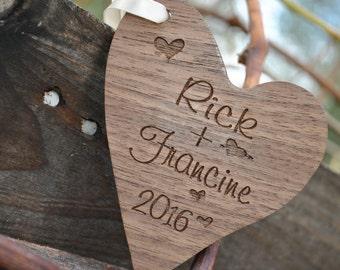 Newlywed Christmas Ornament - Custom Engraved Names - Newlywed Chrsitmas Gift