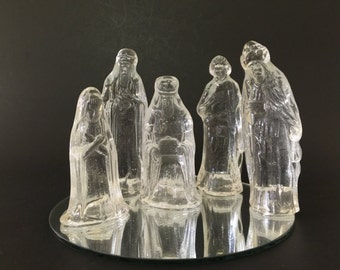 Vintage Glass Nativity Set