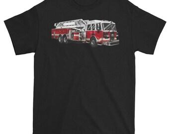 Firefighter Ladder Truck T shirt