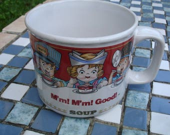 Campbell's Soup Mug, 1997, vintage and retired by Westwood, 14 ozs, microwave safe