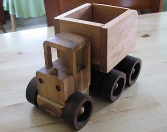 The Big Dumper 2.0 - Toy Dump Truck, Solid  Wood, Maple, Walnut and Hickory