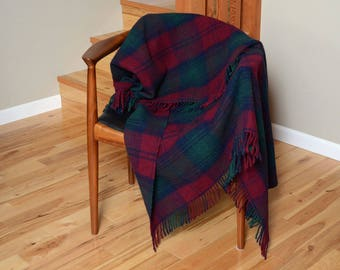 Murray Brothers Wool Plaid Throw / Blanket Made in Scotland