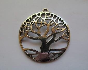 "2 1/4"" Lightweight antique silver Tree of life pendant #RM131"