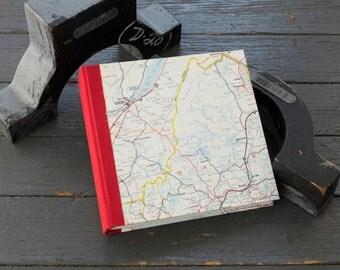 Travel Journal Sketchbook Vintage Map Memory Keeper