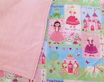 "Princess theme Blanket/Quilt *Perfect for Crib, tummy time, stroller*  36""x 40"""