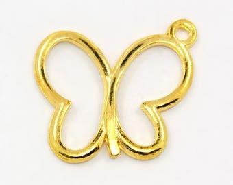 Bulk Charms Bulk Pendants Butterfly Charms Wholesale Charms Gold Butterfly Gold Charms Insect Charms 19mm 100 pieces