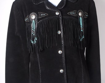 Scully Women's Leather Suede Fringe Jacket