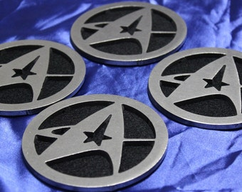 Star Trek Fleet Command Themed Coasters Set of 4, SS