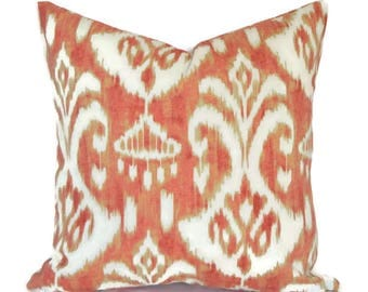 Outdoor Pillows ANY SIZE Outdoor Cushions Outdoor Pillow Covers Decorative Pillows Outdoor Cushion Covers Euro Pillow Rivoli Coral