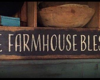 Grubby prim sign-FARMHOUSE BLESSINGS