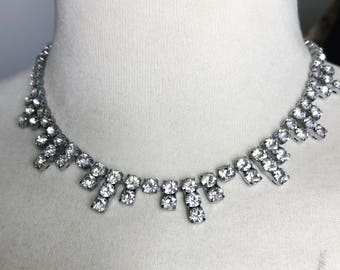 REDUCED Vintage 1950s Paste Crystal Diamanté Necklace