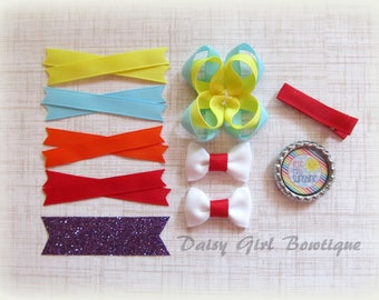 Hair Bow Making Kit-Make Your Own Bow-DIY Hair Bow-Hair Bow Craft Supplies-Make a Micro Mini Bow-Twisted Boutique Bow Supplies-Bow Maker.