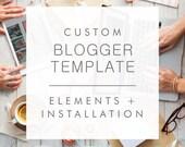 Custom Blogger Template Design