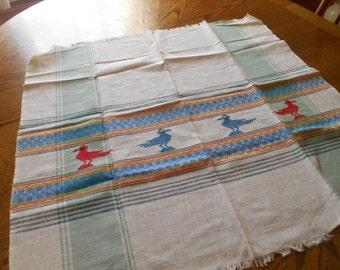 41 x 32 Embroidered Table Square / Tablecloth