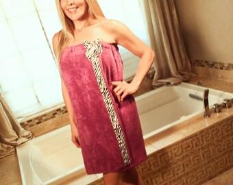 Wrap Around Towel- Bath Wraps For Women- Shower Wraps- Monogrammed Towel Wrap- Body Towel Wrap- Spa Towel Wrap- Shower Towel Wrap