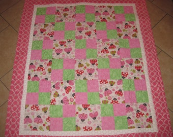 Ladybug Baby and/or Toddler Quilt