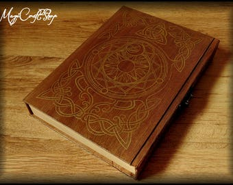 Book of Shadows CELTIC KNOTS with lock - medium size 8,67x5,91 inch (22x15 cm)