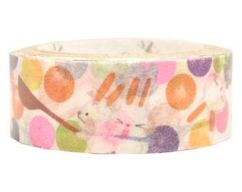 Funny Animals Pink Glitter Japanese Washi Tape Shinzi Katoh Design (ks-dt-10026) Buy other items together for BETTER price.