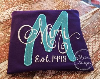 Custom Grandparent's Nickname shirt - Established in shirt 155