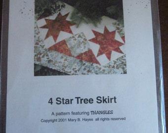 Four Star Tree Skirt Pattern