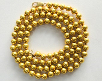 22K Gold beads necklace from Rajasthan India