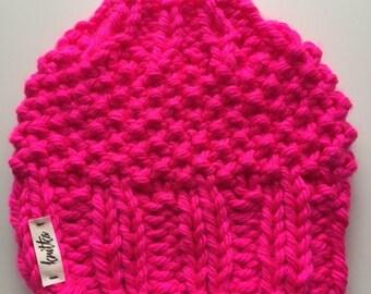 Knit Ponytail or Messy Bun Hat
