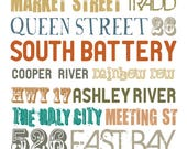 "The ""Original"" Charleston, SC Typography Poster - Color Choices"