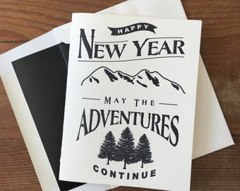 Letter Pressed New Year, New Adventure Card packs of 10