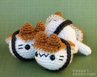 Unagi (Grilled Eel) Nigiri Cat - Sushi Inspired Amigurumi Kitten