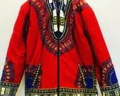 Reversible Unisex Padded Dashiki Jacket w/Hood