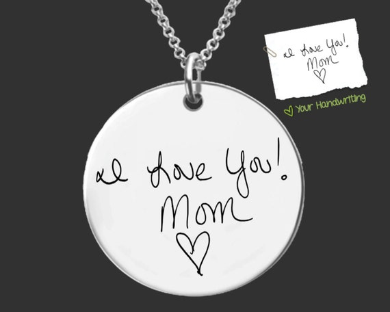 Handwriting Jewelry | Handwriting Necklace | Signature Jewlery | Personalized Gifts | Korena Loves