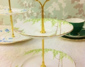 Hand Painted Watercolour 2 Tier Mini Cake Stand