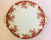Reserved for Jacqueline Olde English Garden Eared Cake Plate plus 2 tier OCR cake stand