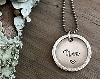 Sterling Silver Jewelry, Hand Stamped, Mother, Mom, Grandma, Nanny, Mother's Day, Gift, Personalized Jewelry, Sterling Silver Necklace
