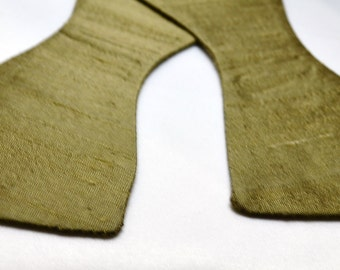 Men's Olive Silk Bow Tie