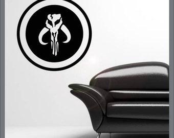 Boba fett logo vinyl wall decal sticker
