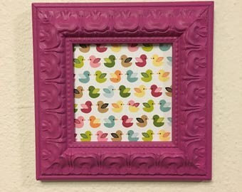 5x5 Square Pink Upcycled Handpainted Picture Frame