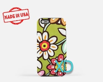 Pictoral Flower iPhone Case, Art iPhone Case, Flower Art iPhone 8 Case, iPhone 6s Case, iPhone 7 Case, Phone Case, iPhone X Case, SE Case