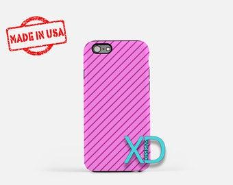 Lilac Stripe Phone Case, Lilac Pinstripe Phone Case, Lined iPhone 7 Case, Purple, Lined iPhone 8 Case, Lilac Tough Case, Clear Case, Linear