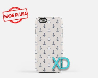 Sea Phone Case, Sea iPhone Case, Anchor iPhone 7 Case, Blue, White, Anchor iPhone 6 Case, Sea Tough Case, Clear Case, Nautical, Ship, Boat