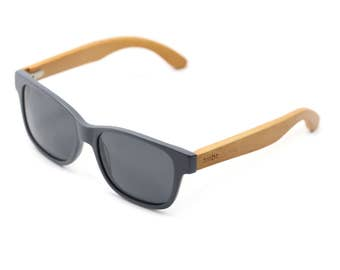 Free Shipping USA - Handcrafted Wood Sunglasses, Gray Wooden Wayfarer Indie Retro Ray-Ban Bamboo Sunglasses - WAD1