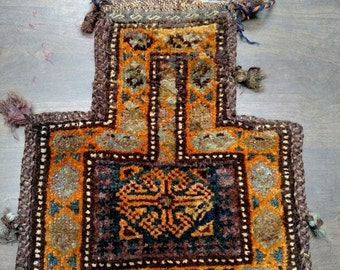 YEAR END CLEARANCE Reserved for Karen - 1960s Handmade Balouch Persian Salt Bag (2973)