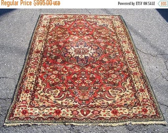 SPRING SALE 1950s Semi-Antique Hand-Knotted Borchalou Persian Rug