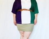 CLEARANCE - FINAL SALE - Plus Size - Vintage Olive Knit Bodycon Mini Skirt (Size L 14/16)