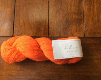 PURL SOHO Line Weight Yarn, Color 1220, Orange!