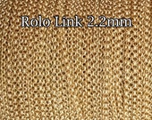 Gold Filled chain, wholesale Rolo chain link 2.2mm, 1 3 5 10 20 30 50 100Feet, gold fill Rolo Belcher, 30%discount price bulk quantity chain