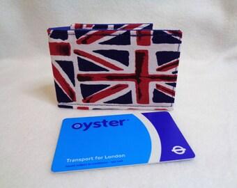 Union Jack Design Oyster Card Holder - Credit Card Holder - Travel Accessories - Business Card Holder - Gift Card Wallet - Union Jack Gift