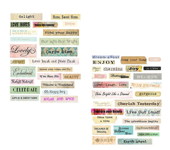 Charming Words collage set