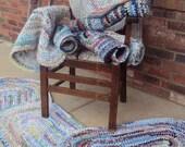 "24"" x 36"" crocheted rag rug"