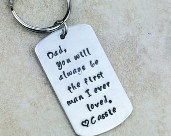 Dad you will always be the first man I ever loved / Gift for father / Father's Day gift / Gift for dad